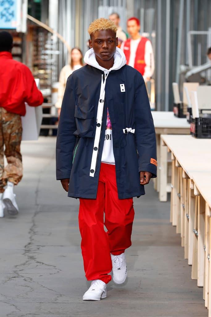 Heron Preston Paris Fashion Week Men's SS19 Runway Spring Summer PFW Show Streetwear Workwear Utility