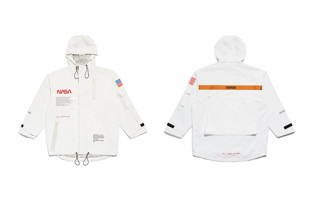 Heron Preston NASA Jacket White