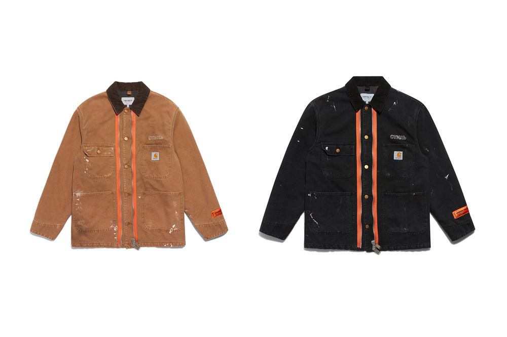 Heron Preston Carhartt WIP Jacket Tan Black
