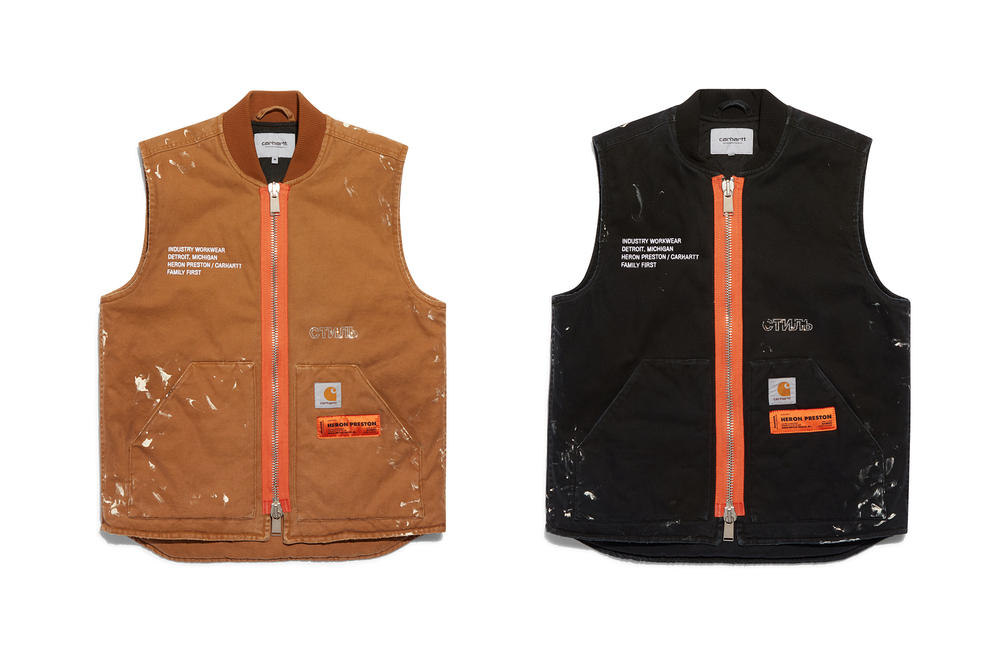 Heron Preston Carhartt WIP Vest Black Tan