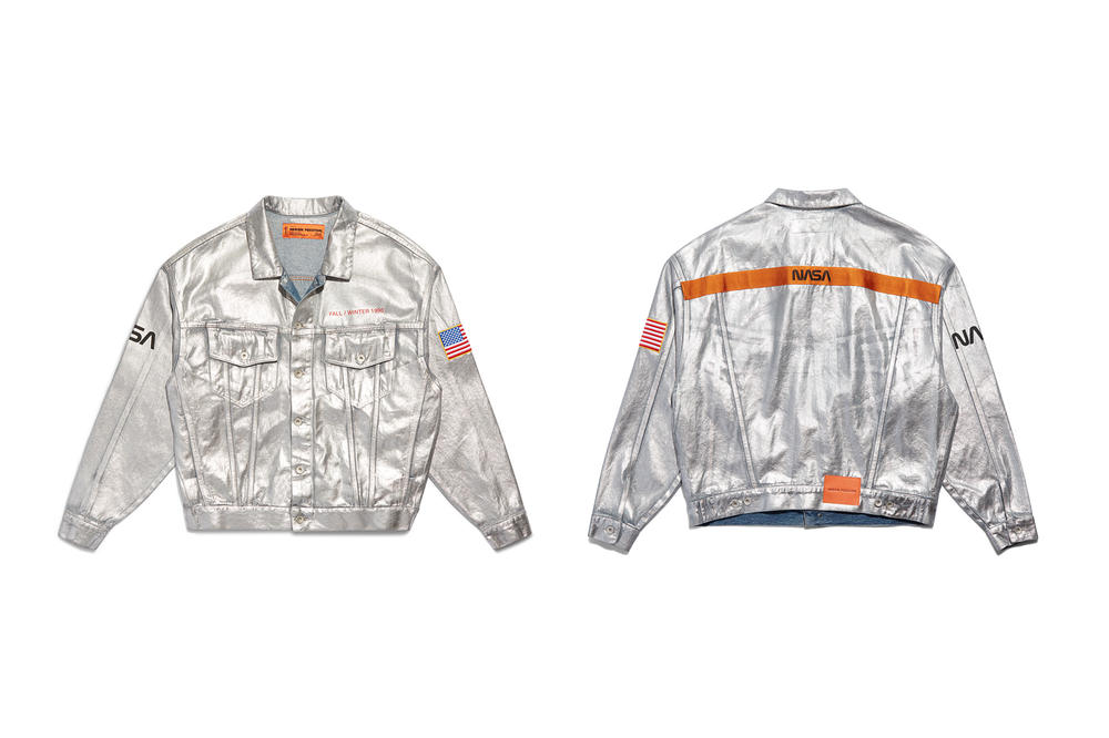Heron Preston NASA Silver Jacket