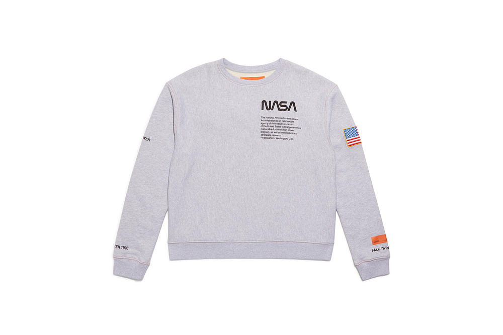 Heron Preston NASA Sweater Gray