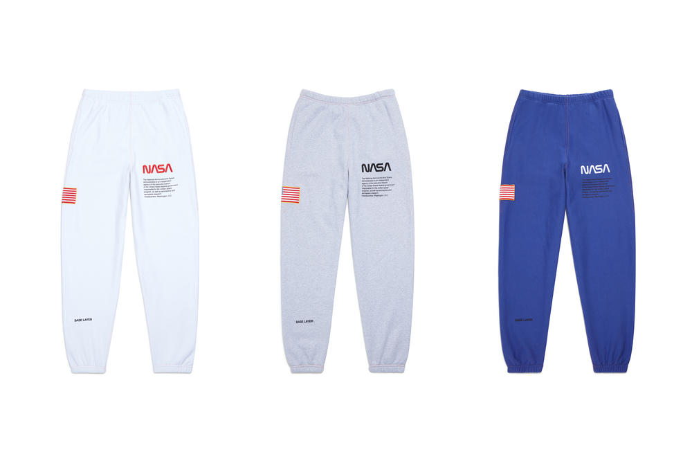 Heron Preston NASA Sweatpants White Gray Blue
