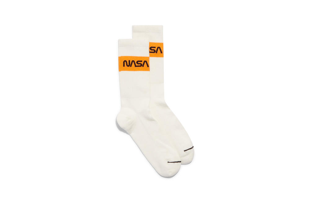 Heron Preston NASA Socks White