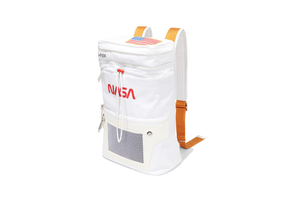 Heron Preston NASA Backpack White Orange
