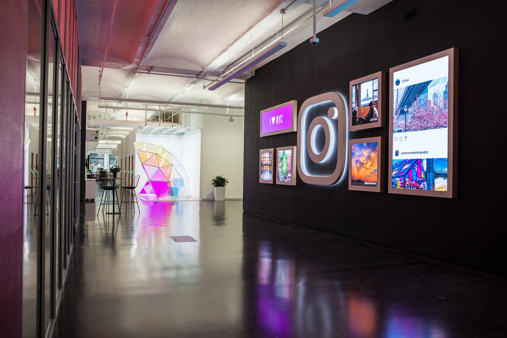 Instagram New York City Office First Look Entrance Digital Greeting Wall