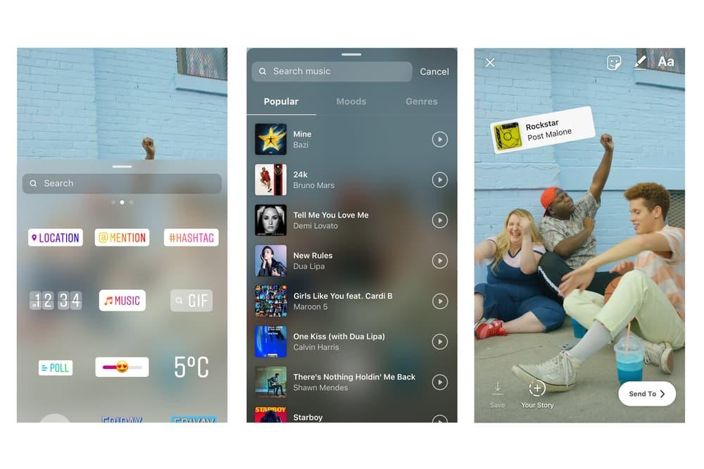 Instagram Music Sticker Features
