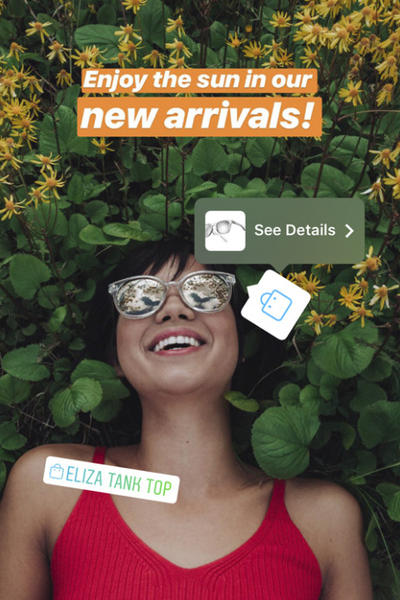 Instagram Stories Shopping Feature Sunglasses Silver