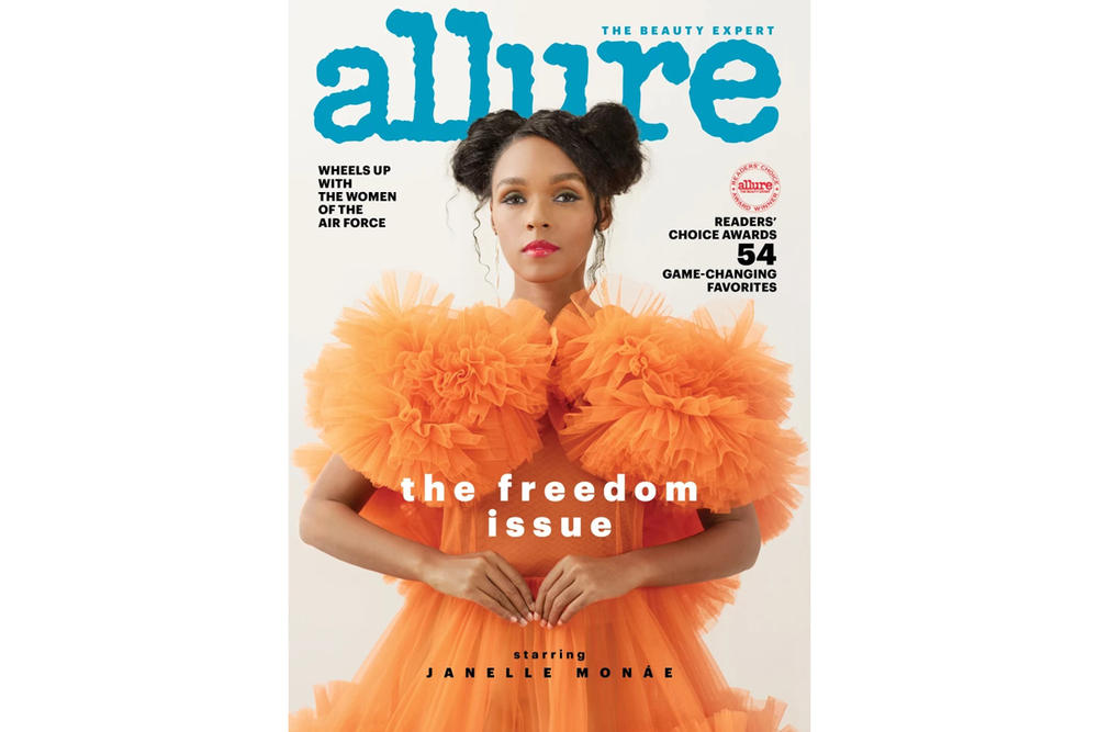 Janelle Monae Allure Magazine July 2018 Issue Molly Goddard Dress Orange