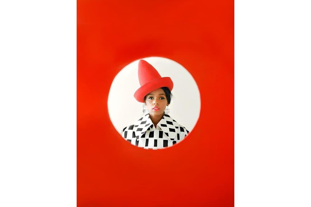 Janelle Monae Allure Magazine July 2018 Issue Junya Watanable Coat New York Vintage Hat White Black Red