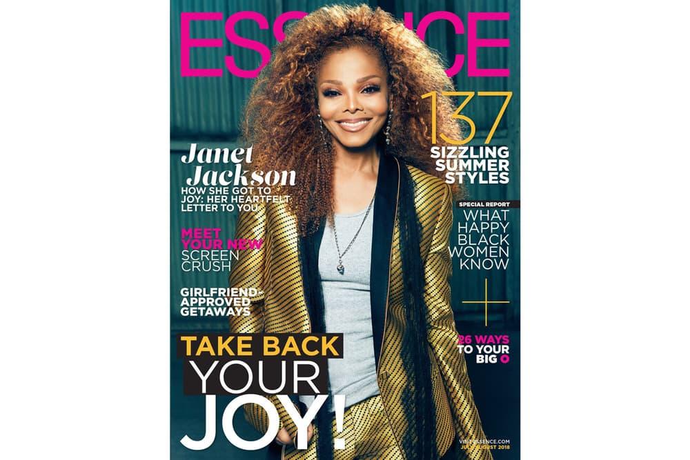 Janet Jackson Essence Magazine July August 2018 Issue Blazer Gold Black