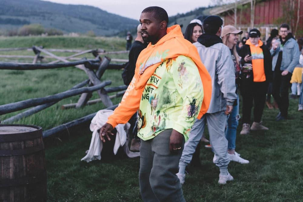 Kanye West ye Album Listening Party Wyoming Merch Hoodie T-Shirt Orange Yellow