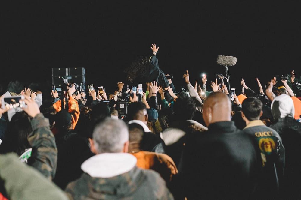 Kanye West ye Album Listening Party Wyoming 070 Shake Crowd Surfing Outside
