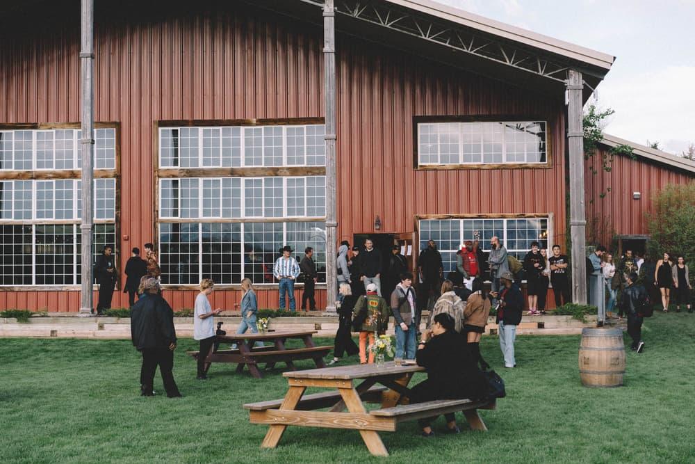 Kanye West ye Album Listening Party Wyoming Tables Barn