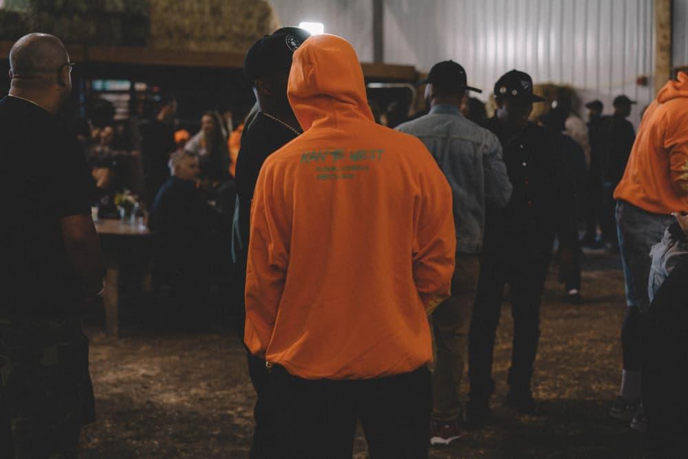 Kanye West ye Album Listening Party Wyoming Merch Hoodie Orange