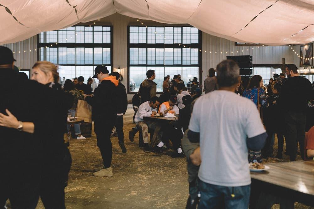 Kanye West ye Album Listening Party Wyoming Inside Barn