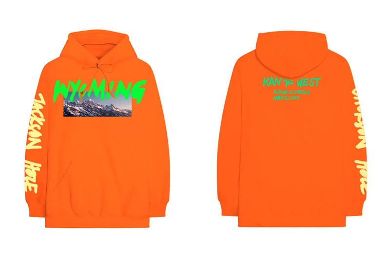 Kanye West ye Album Listening Party Merch Wyoming Hoodie Orange