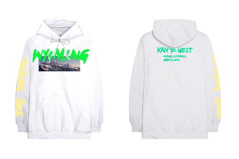 Kanye West ye Album Listening Party Merch Wyoming Hoodie White