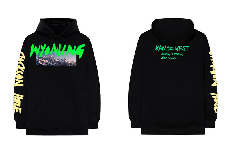 Kanye West ye Album Listening Party Merch Wyoming Hoodie Black
