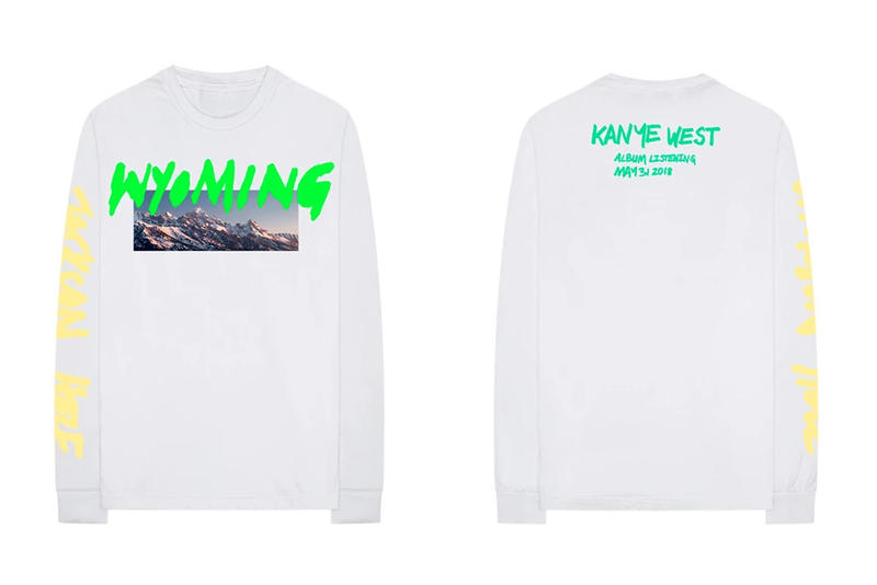 Kanye West ye Album Listening Party Merch Wyoming Long Sleeve T-shirt White