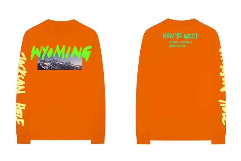 Kanye West ye Album Listening Party Merch Wyoming KKW Long Sleeve T-shirt Orange