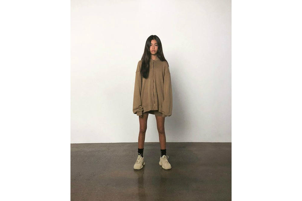 Kanye West Releases SUPERMOON Instagram Ad Campaign Sweatshirt YEEZY 500 Super Moon Yellow