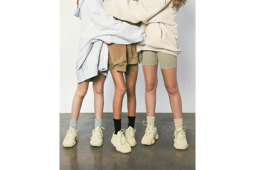 Kanye West Releases SUPERMOON Instagram Ad Campaign Shorts Sweaters YEEZY 500 Super Moon Yellow