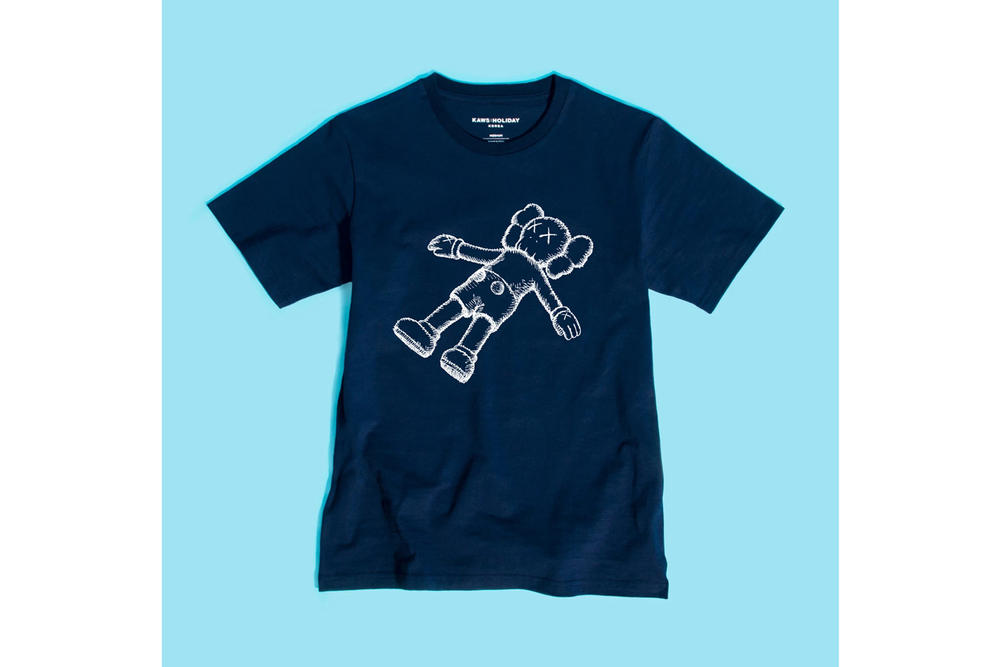 KAWS:HOLIDAY Seoul Seokchon Lake Korea T-shirt Navy