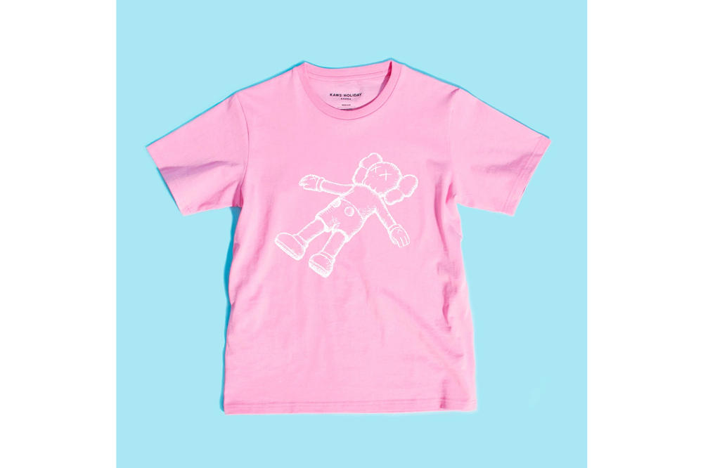 KAWS:HOLIDAY Seoul Seokchon Lake Korea T-shirt Pink