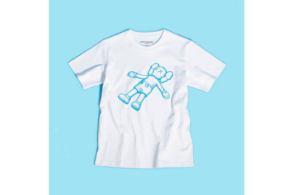 KAWS:HOLIDAY Seoul Seokchon Lake Korea T-shirt White