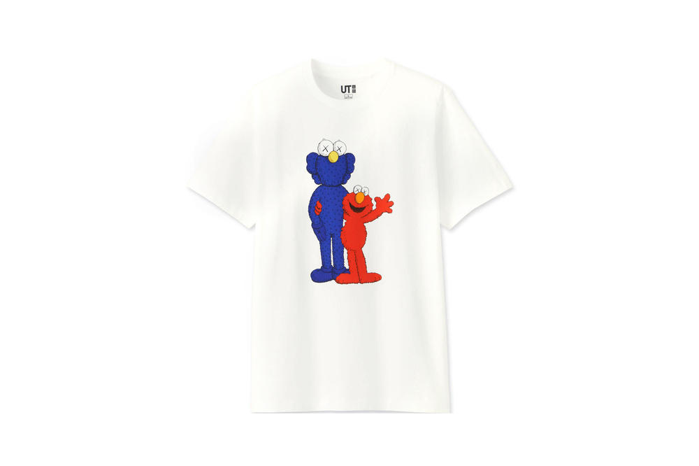 KAWS x Uniqlo UT Sesame Street Collection T-shirts Companion Elmo White