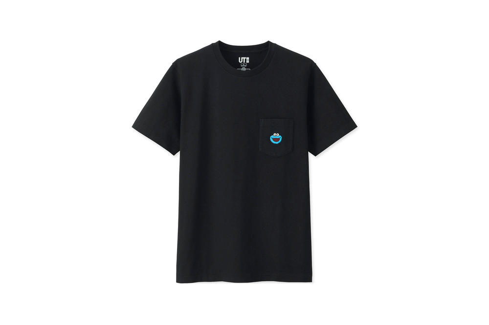KAWS x Uniqlo UT Sesame Street Collection T-shirt Cookie Monster Black