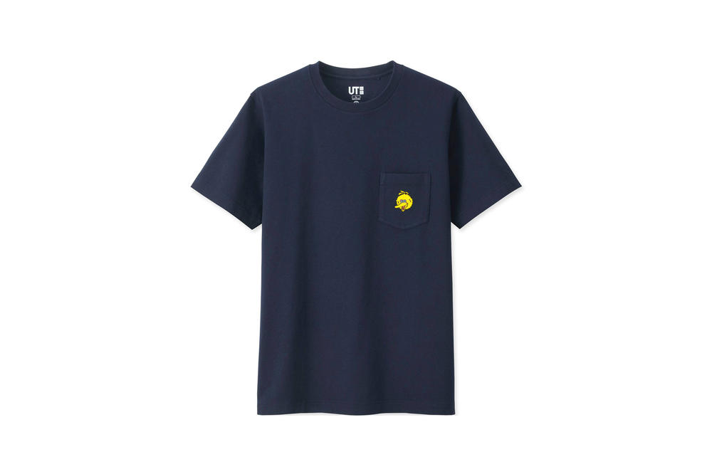 KAWS x Uniqlo UT Sesame Street Collection T-Shirt Big Bird Navy