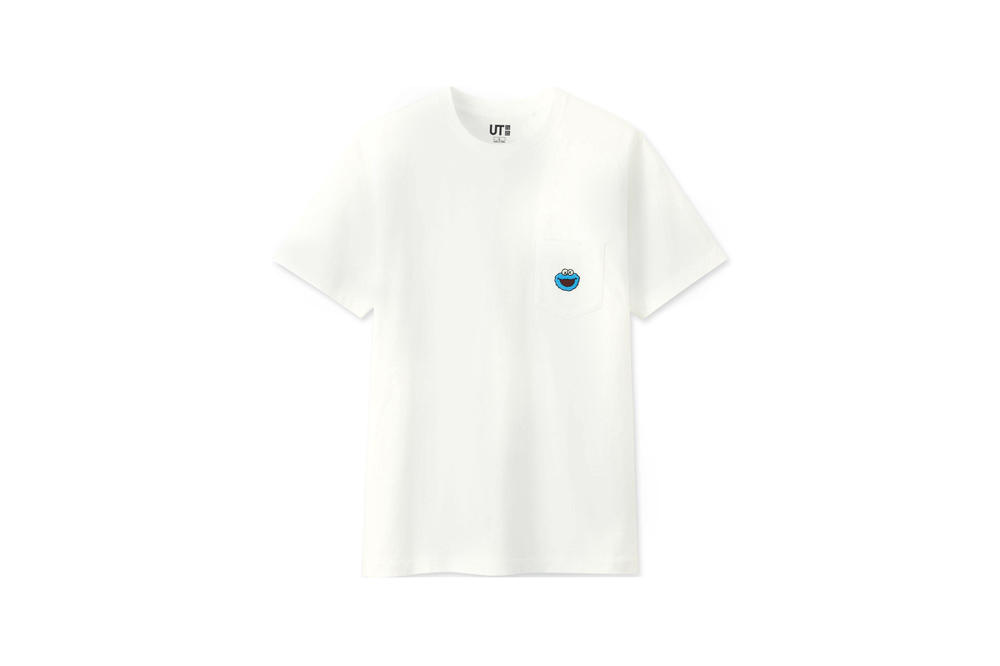 KAWS x Uniqlo UT Sesame Street Collection T-shirt Cookie Monster White