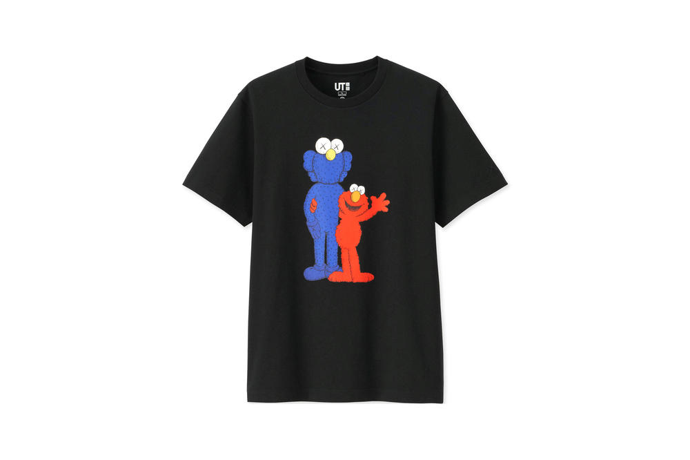KAWS x Uniqlo UT Sesame Street Collection T-shirt Elmo Companion Black