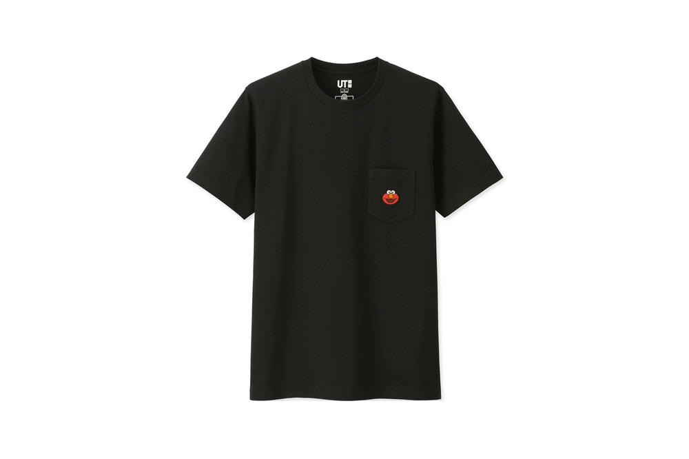KAWS x Uniqlo UT Sesame Street Collection T-shirt Elmo Black
