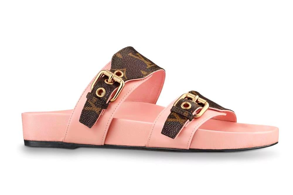 5d8970520543eb Louis Vuitton Bom Dia Mule Monogram Buckle Sandal Birkenstock Pink