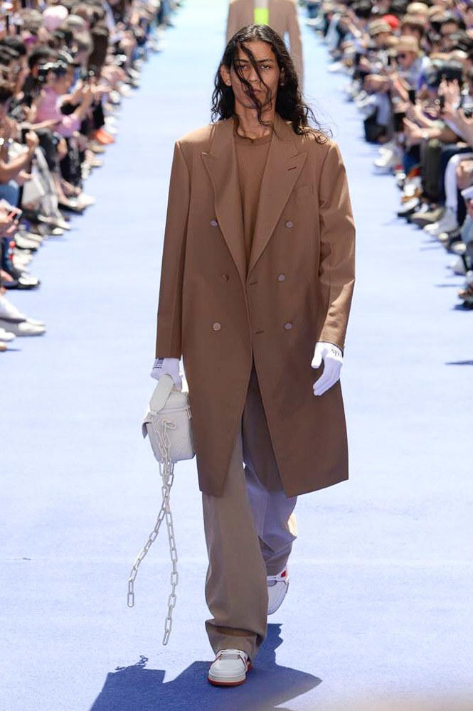 Virgil Abloh Louis Vuitton Paris Fashion Week Men's 2019 Brown Coat