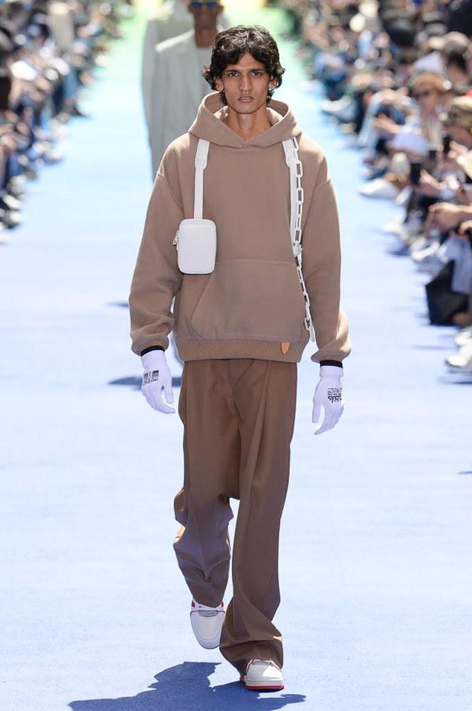 Virgil Abloh Louis Vuitton Paris Fashion Week Men's 2019 Brown Hoodie