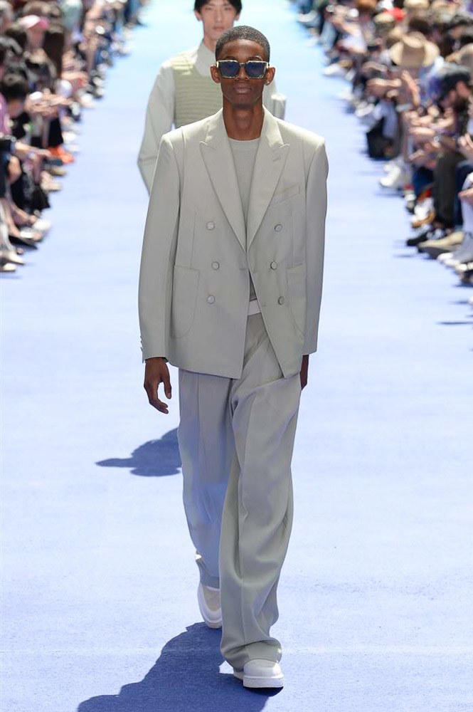 Virgil Abloh Louis Vuitton Paris Fashion Week Men's 2019 Grey Suit
