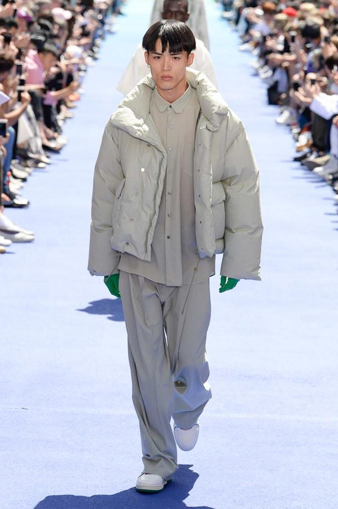 Virgil Abloh Louis Vuitton Paris Fashion Week Men's 2019 Padded Bomber Jacket
