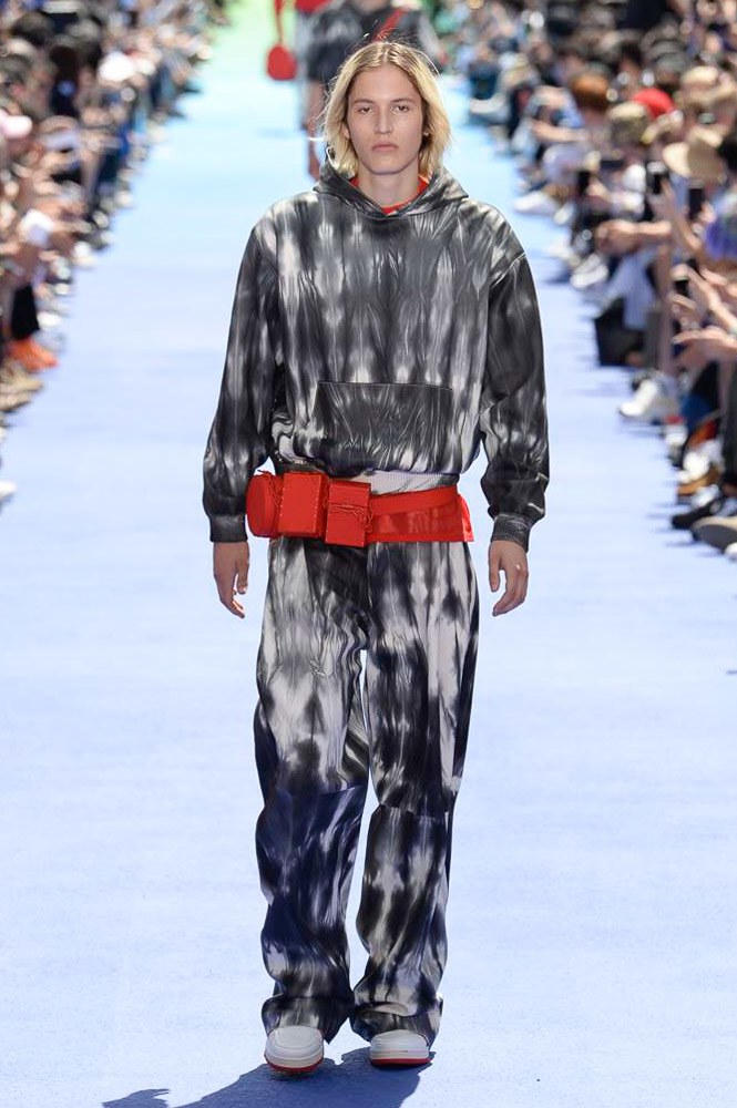 Virgil Abloh Louis Vuitton Paris Fashion Week Men's 2019 Grey Tie Dye