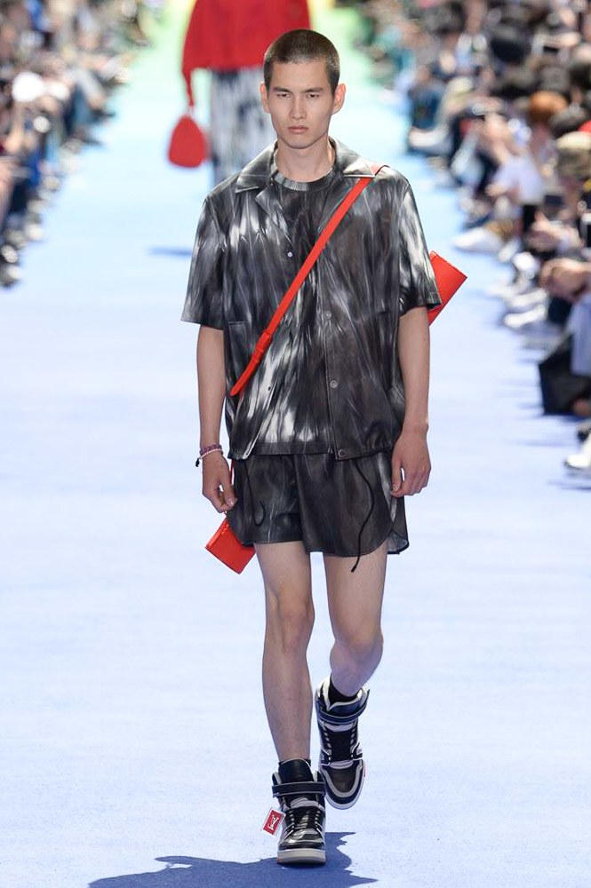 Virgil Abloh Louis Vuitton Paris Fashion Week Men's 2019 Tie Dye Shirt shorts Kohei Takabatake
