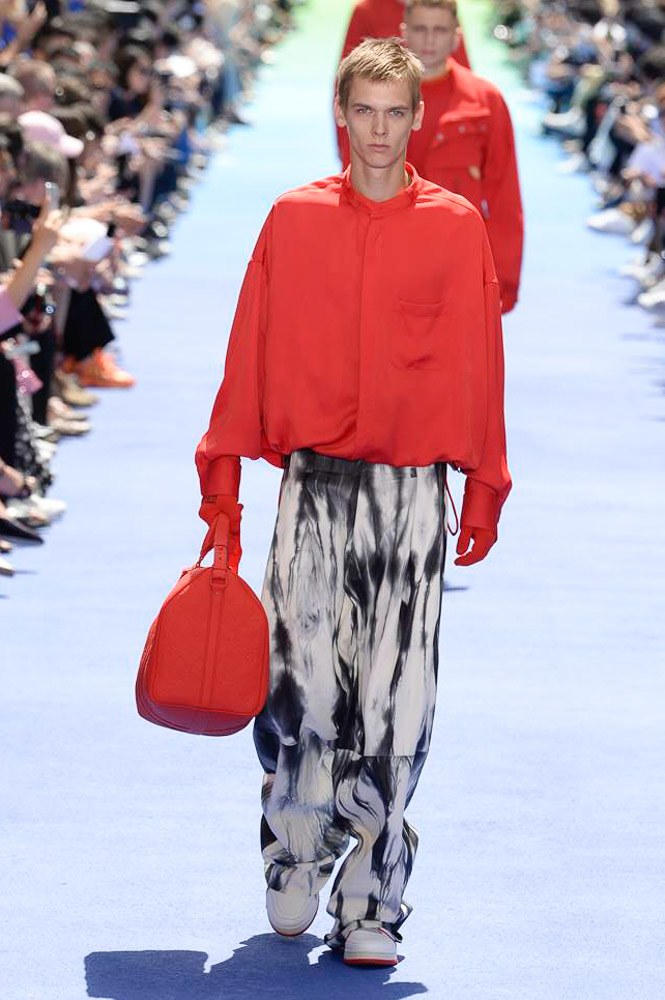 Virgil Abloh Louis Vuitton Paris Fashion Week Men's 2019 Red Bag