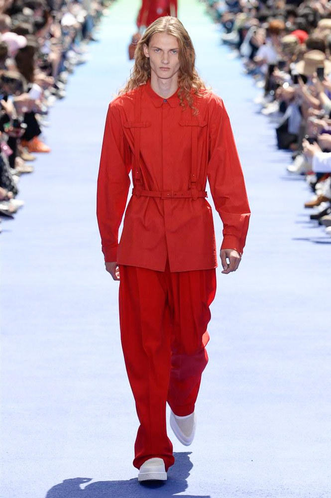 Virgil Abloh Louis Vuitton Paris Fashion Week Men's 2019 All Red Look