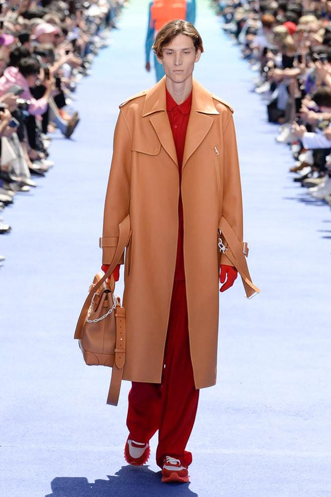 Virgil Abloh Louis Vuitton Paris Fashion Week Men's 2019 Brown Trench Coat