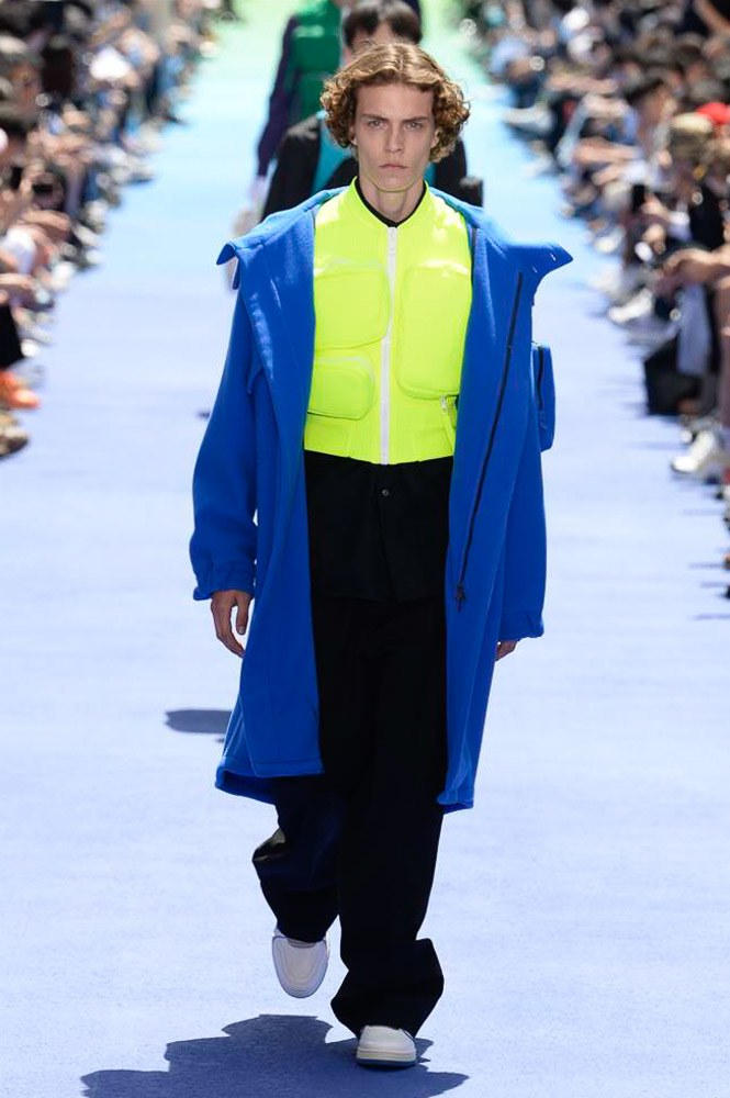 Virgil Abloh Louis Vuitton Paris Fashion Week Men's 2019 Blue Coat