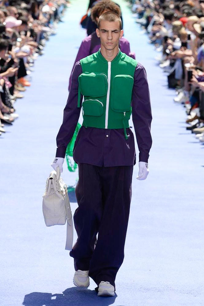 Virgil Abloh Louis Vuitton Paris Fashion Week Men's 2019 Green Padded Vest