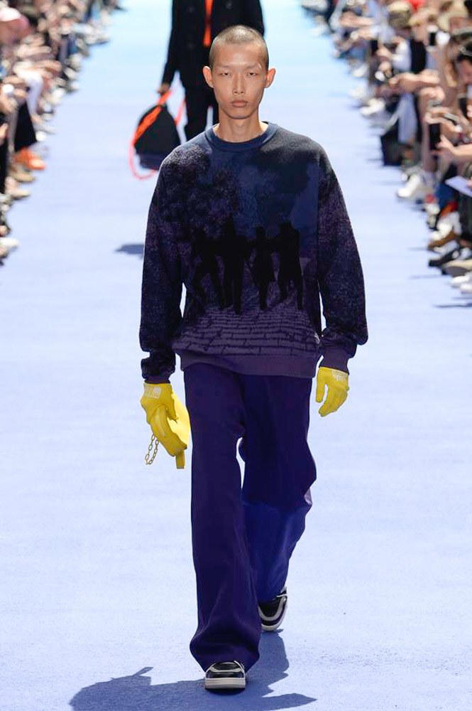 Virgil Abloh Louis Vuitton Paris Fashion Week Men's 2019 Yellow Gloves