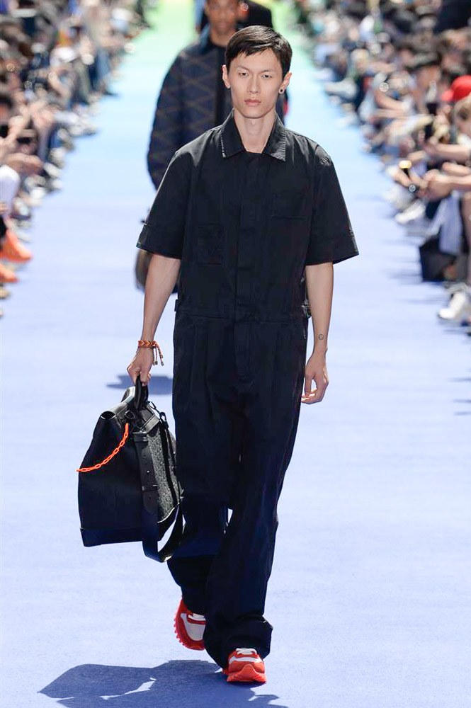 Virgil Abloh Louis Vuitton Paris Fashion Week Men's 2019 All Black Bag